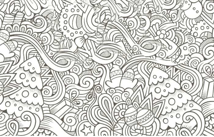 Genial Busy Coloring Page For Free Christmas Gift Small