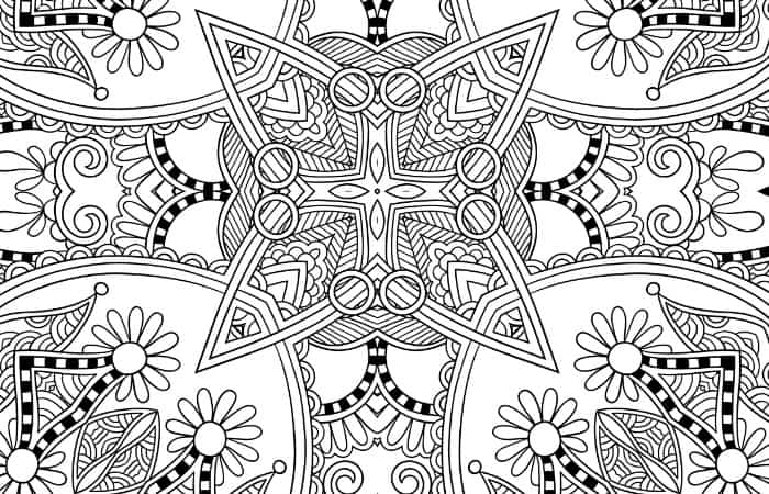 christmas printable adult coloring pages small