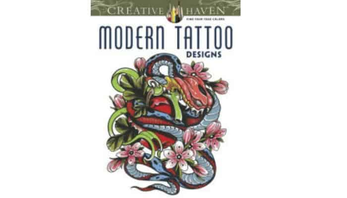 coloring book for adults with tattoo designs