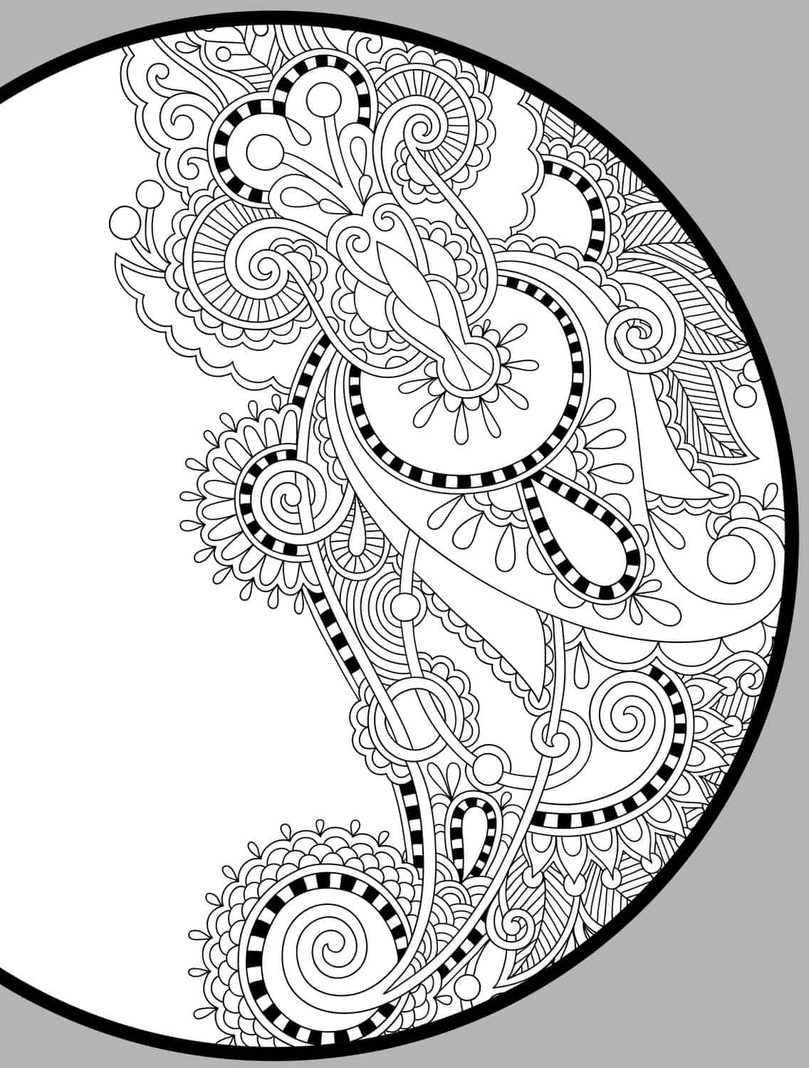 10 free printable holiday adult coloring pages for Adult color page