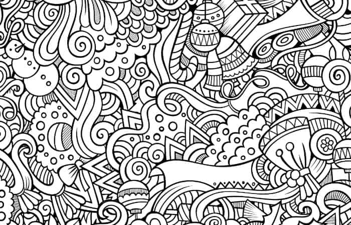 easy adult coloring pages for christmas small - Christmas Coloring Pages For Adults