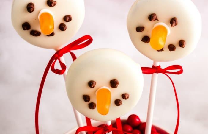 Dairy Free Cookie Pop Snowmen