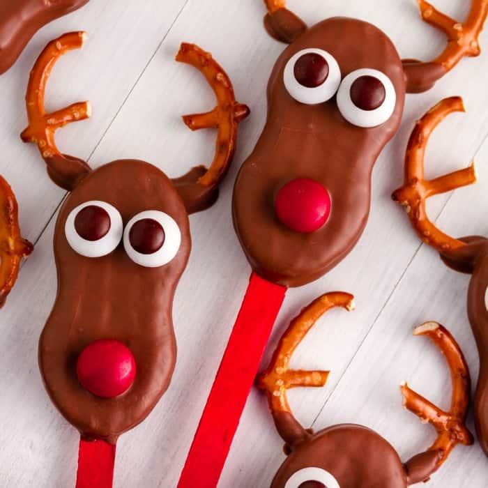 easy dairy-free reindeer cookies sq