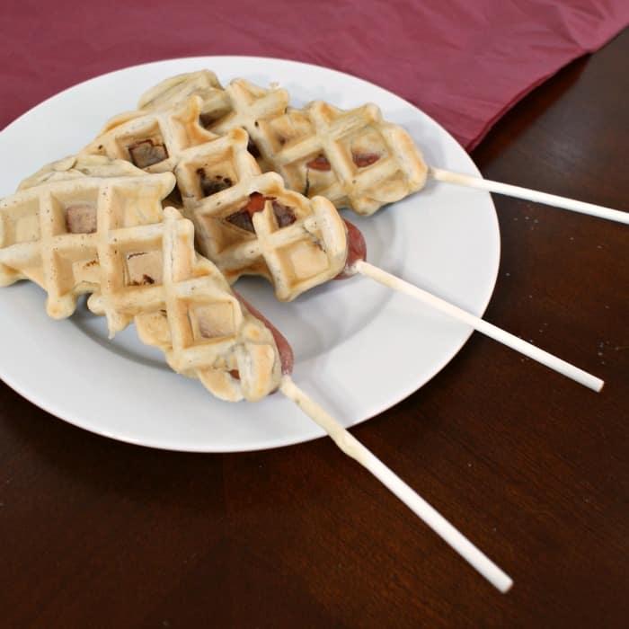 easy dairy free waffle hot dog recipe sq