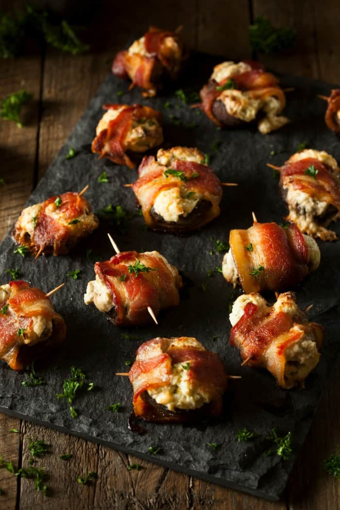 easy mushroom and bacon appetizer for a party