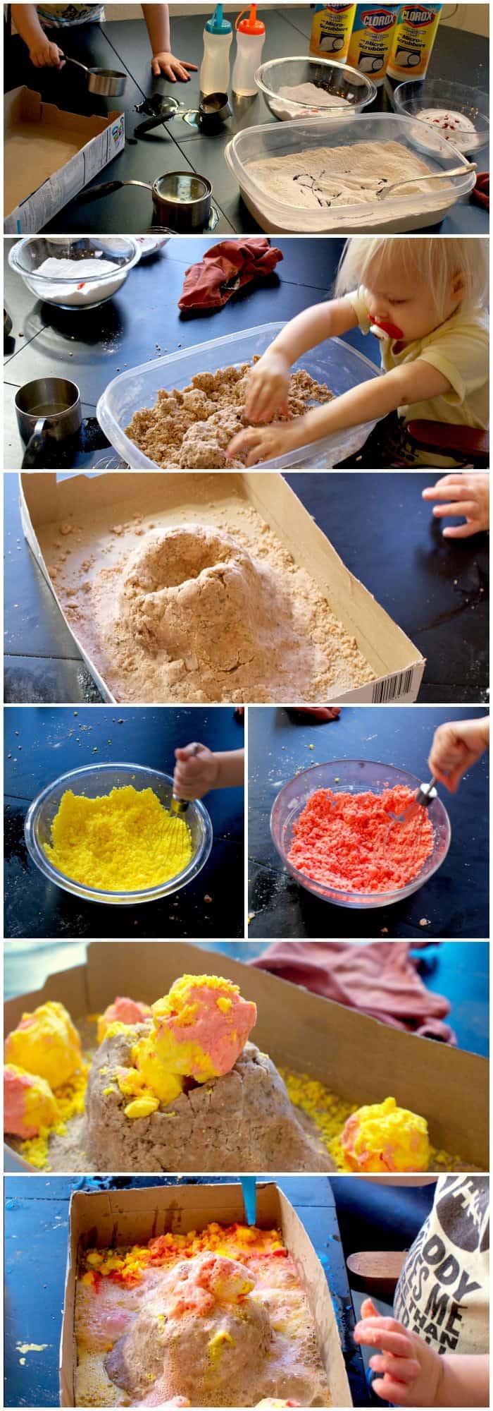 erupting volcano for kids tutorial