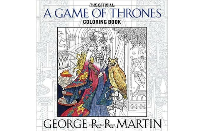 game of thrones coloring book gift