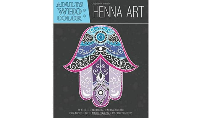 henna art adult coloring book
