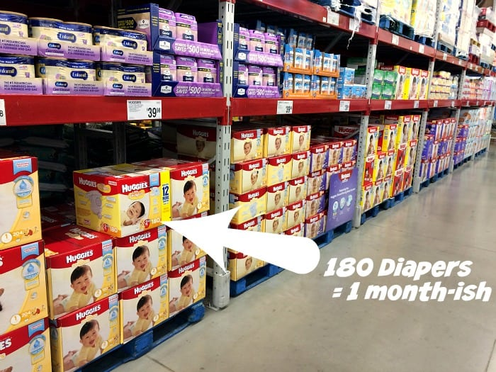 how many diapers does a baby need in a month
