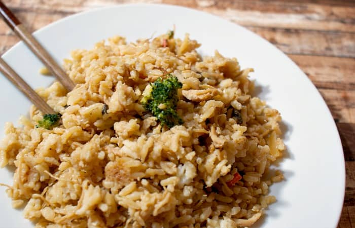 one pan chicken fried rice feature