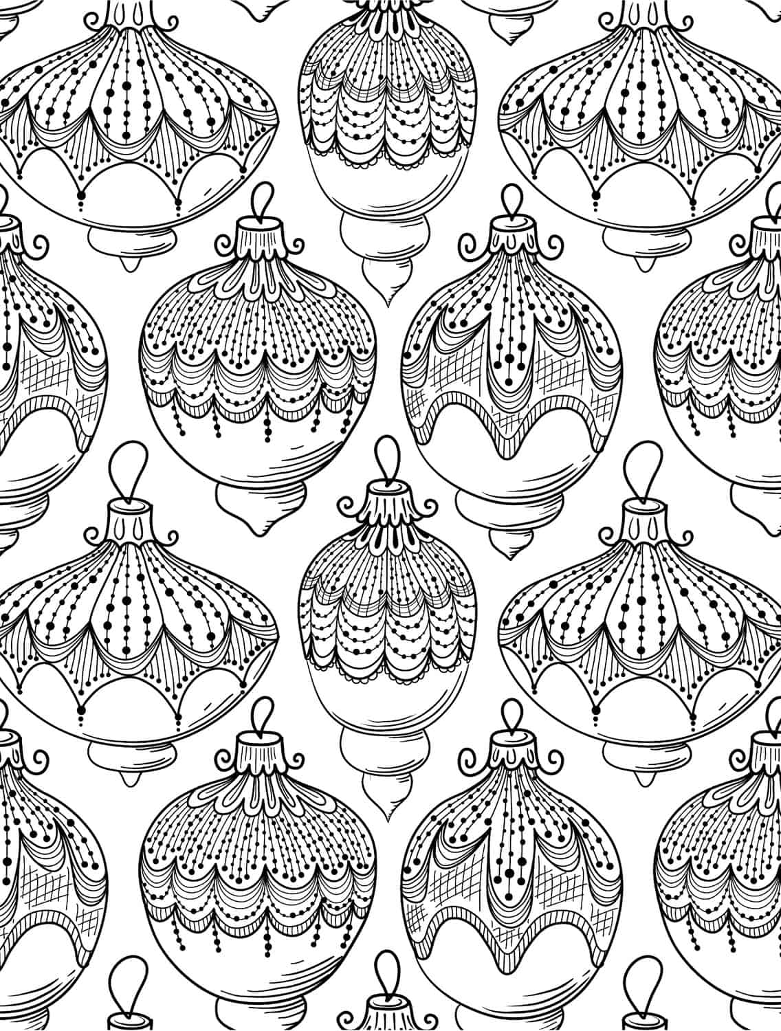 holiday coloring page - 10 free printable holiday adult coloring pages