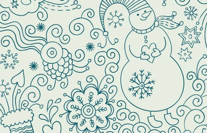 snowmen printable adult coloring page small