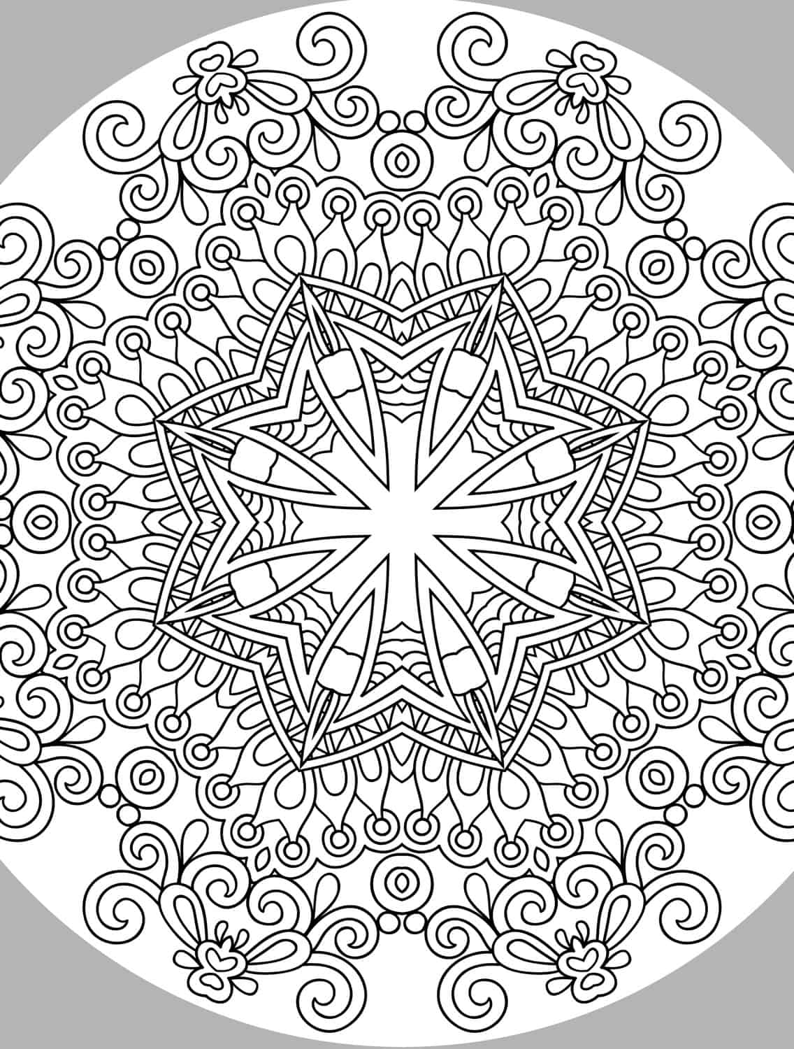 Very pretty coloring page for adults small