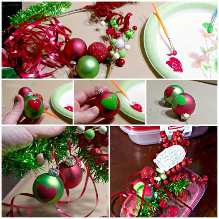 tutorial for decorating a christmas gift for a grinch present