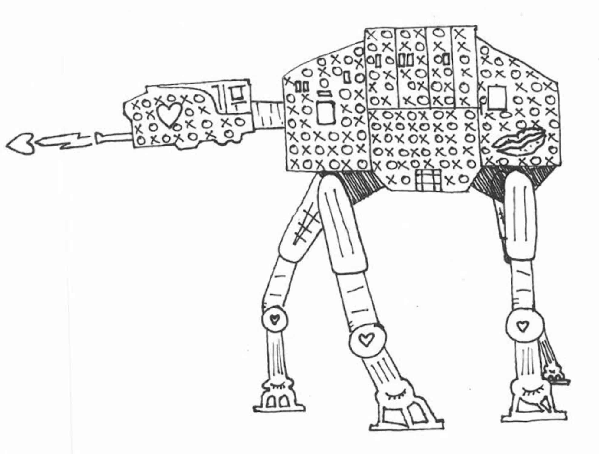 Star Wars Adult Coloring Page At Web