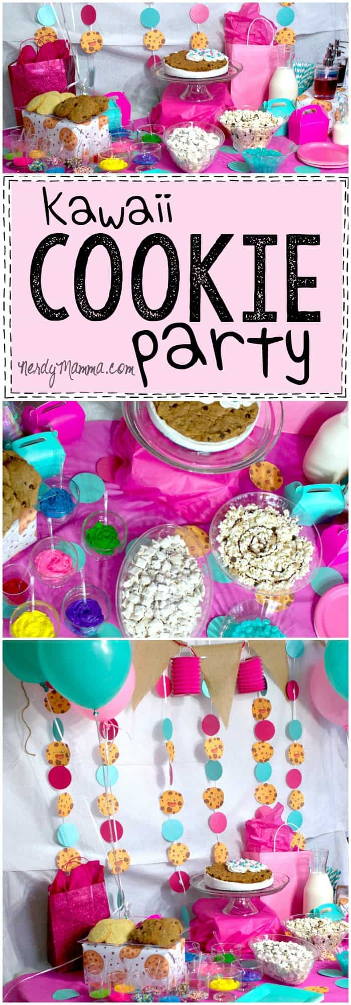 I absolutely love this awesome kawaii cookie party idea for a little girl or even a teen. So cute! And there's a recipe for coconut flavoring syrup. Random but cool!