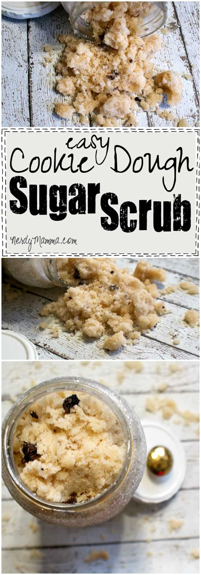 Oh, what I wouldn't give to be able to spend an hour with this Easy Cookie Dough Sugar Scrub. Kids keep hunting me down, though. Heh.