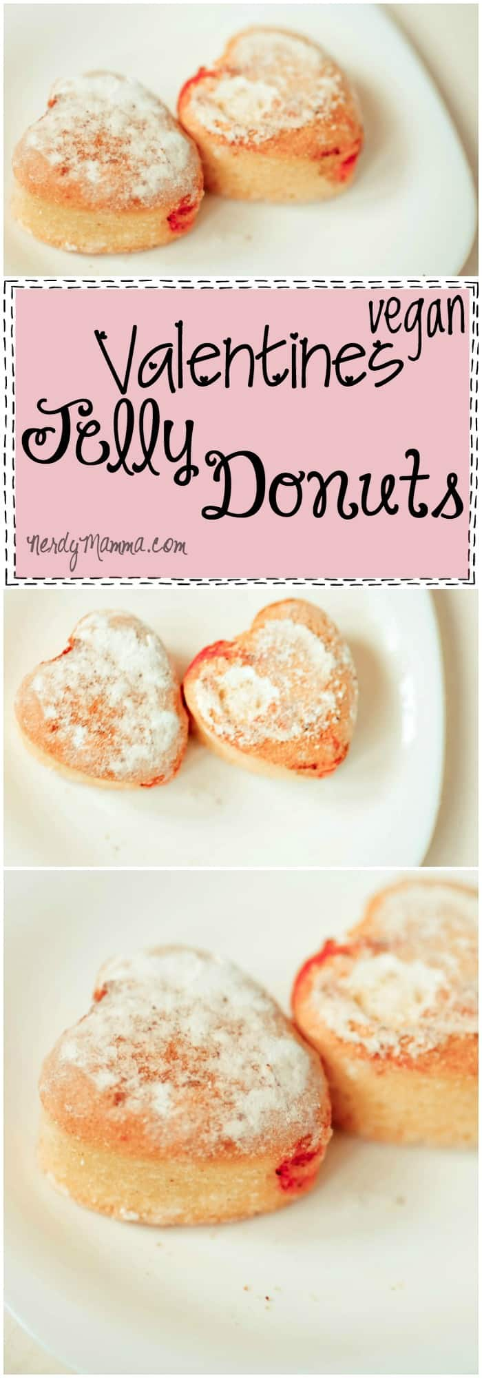 This Valentines Vegan Jelly Donut recipe sounds so yummy. LOVE!