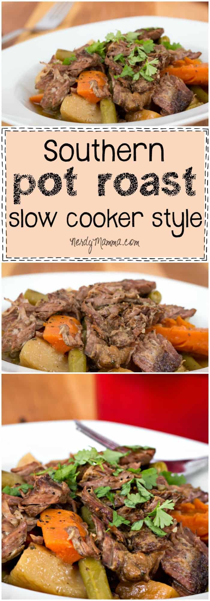 This is the BEST southern pot roast recipe. just like granny used to make! And the best part is that it's a slow cooker recipe--sweet!
