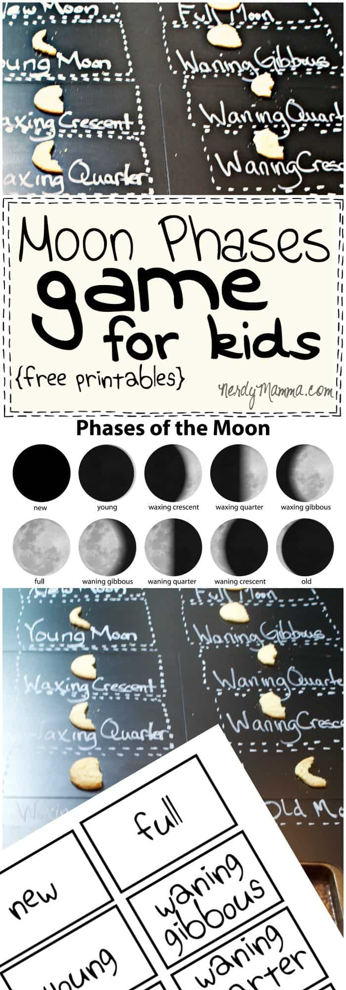 This moon phases game for kids is so easy--and FUN! What a great way to teach kids about the moon...LOL!