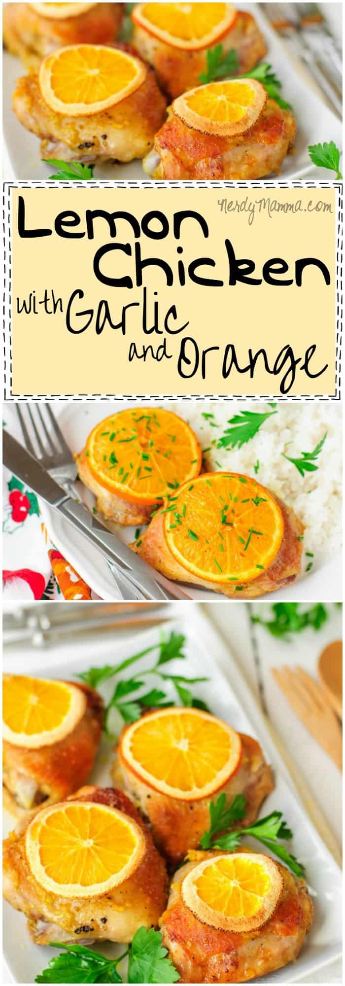 This recipe for slow cooker Lemon Chicken with Garlic and Orange is so easy. And the yum factor...amazing!