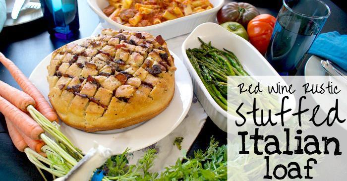 bacon stuffed italian bread fb