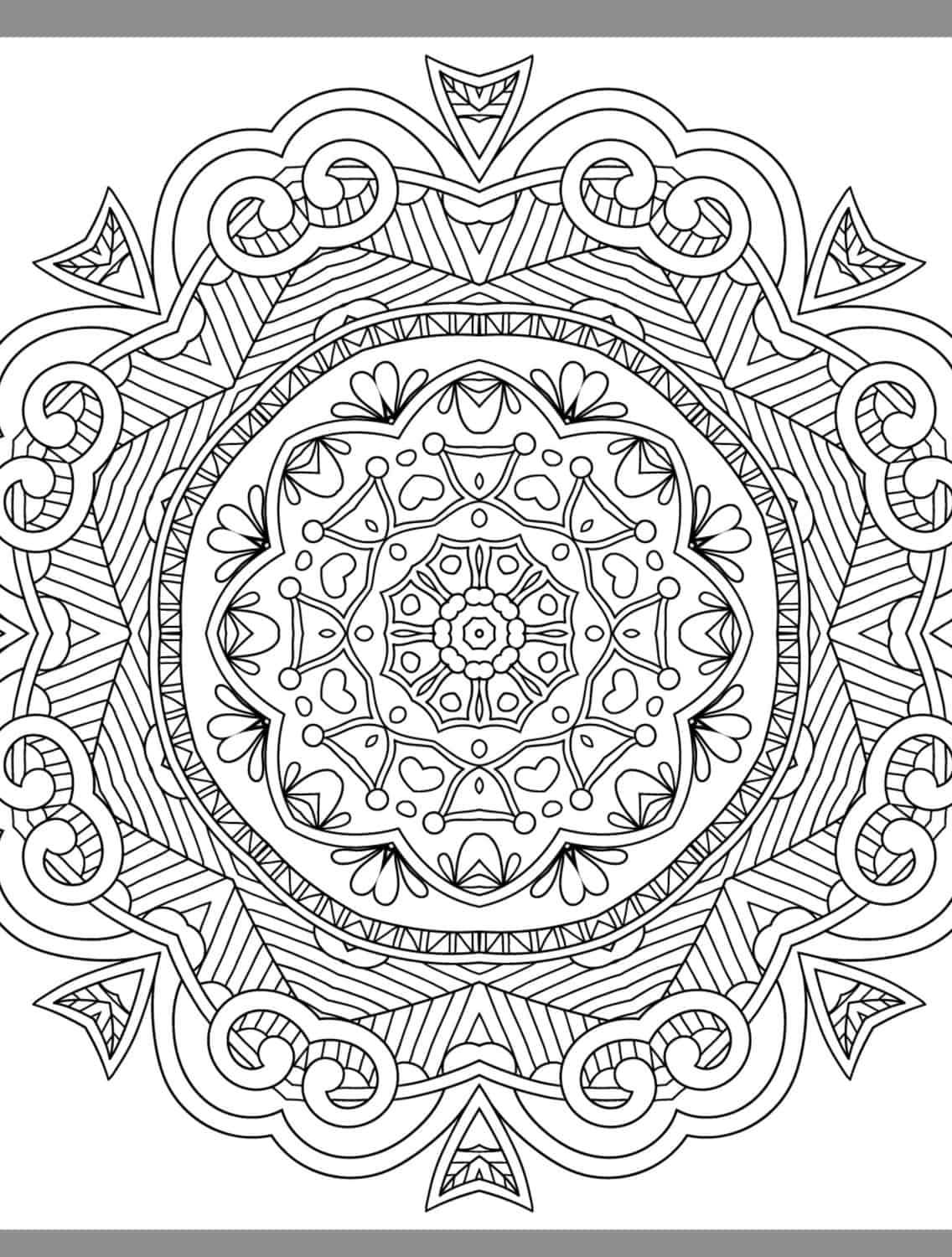 ... More Free Printable Adult Coloring Pages - Page 20 of 25 - Nerdy Mamma