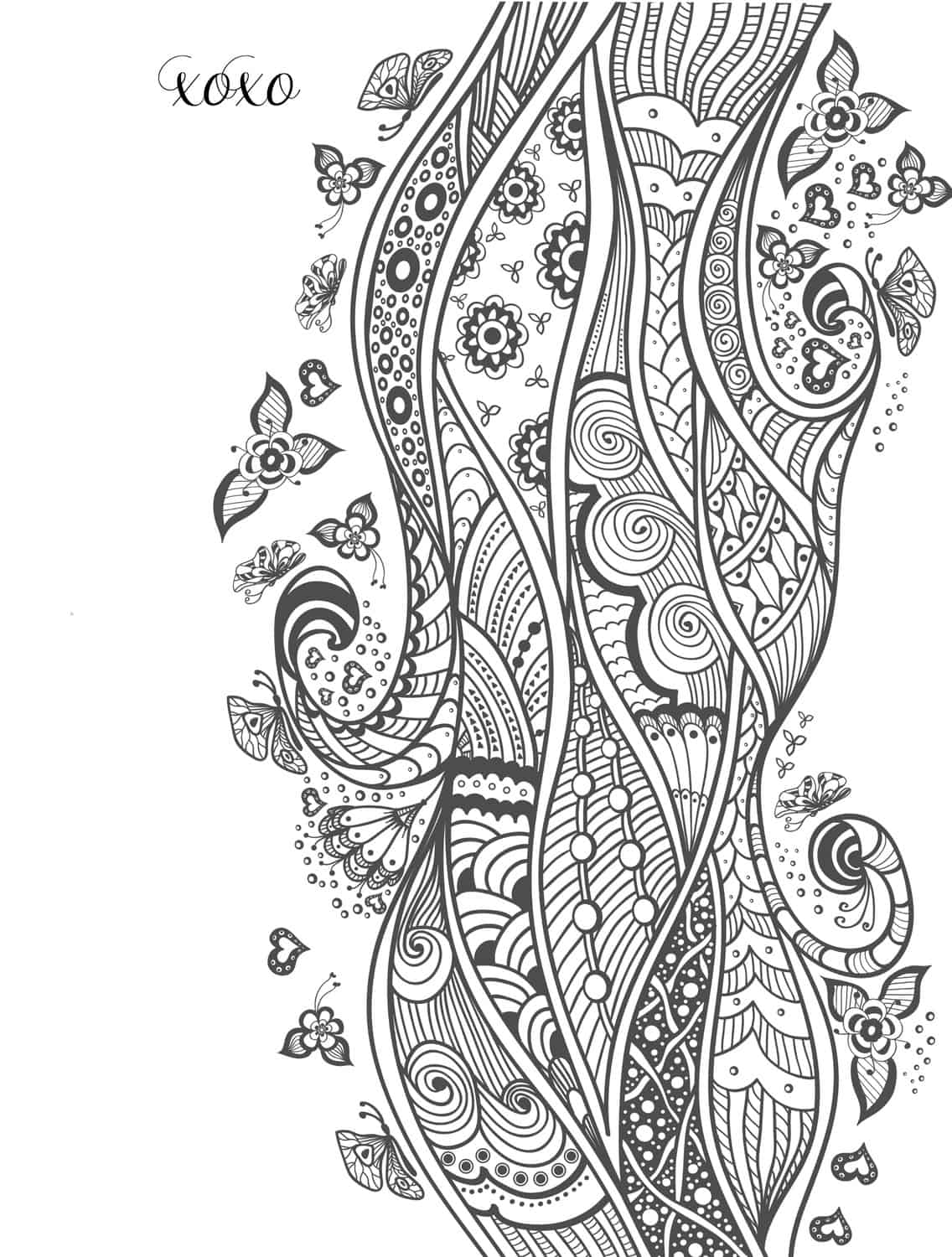 20 free printable valentines adult coloring pages - Coloring Pages Free