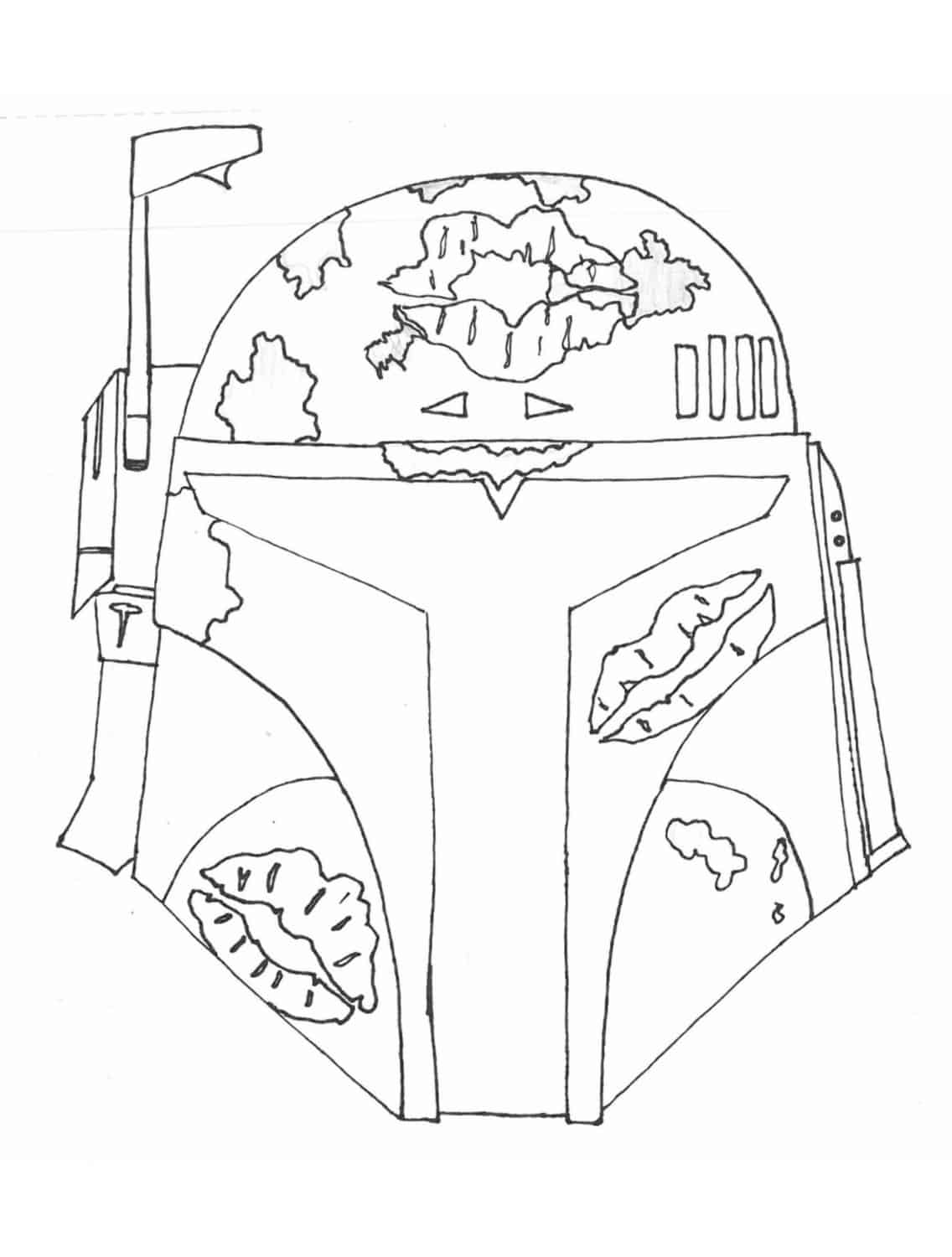 0 - Boba Fett Coloring Pages Printable