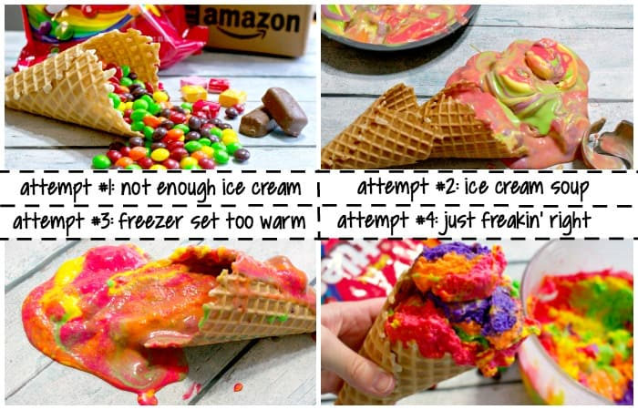 can you make ice cream that tastes like skittles candy attempts