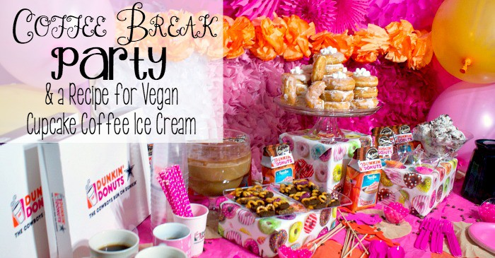coffee break party & a recipe for vegan cupcake coffee chocolate ice cream fb