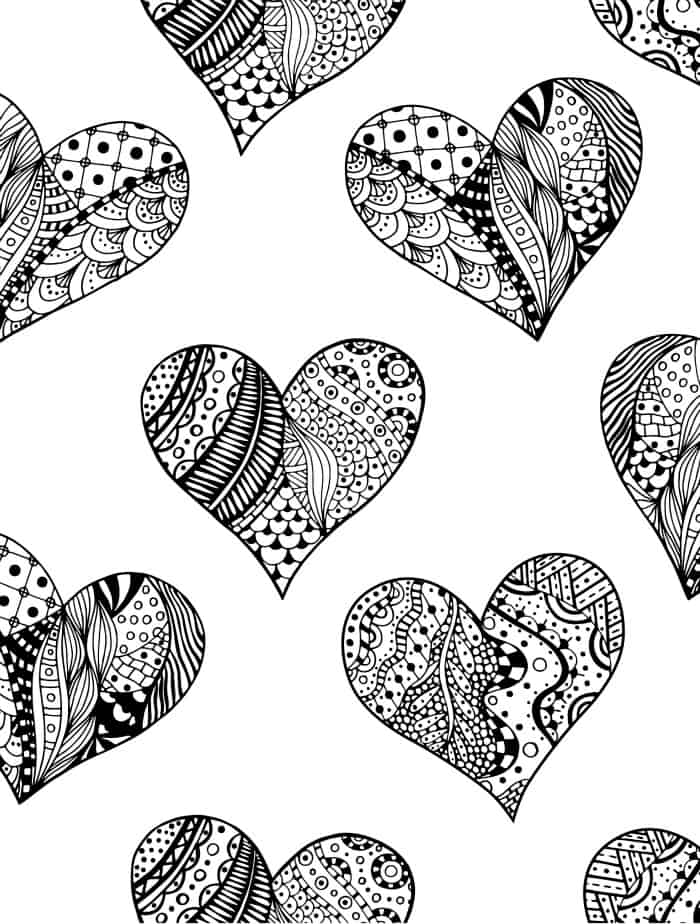 coloring page gift for valentines