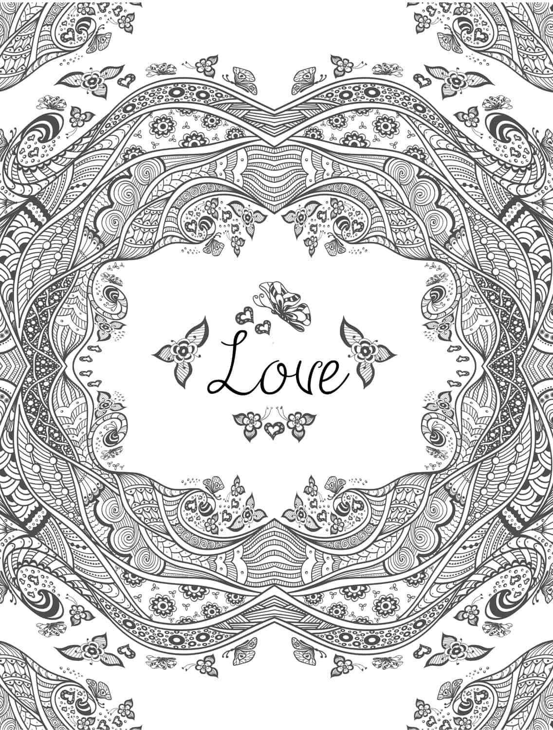 20 free printable valentines adult coloring pages nerdy Best coloring books for adults 2016