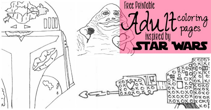 8 More Star Wars Inspired Valentines Coloring Pages - Nerdy Mamma
