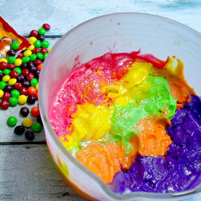 dairy free ice cream that tastes like skittles sq