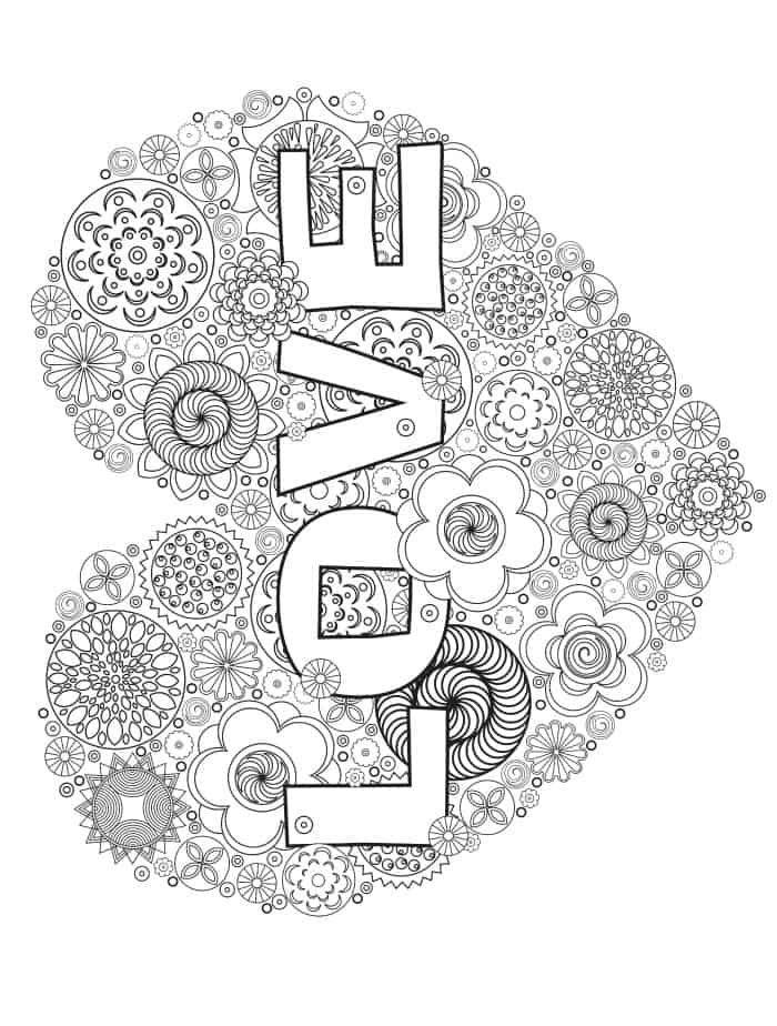 easy gift for valentines coloring