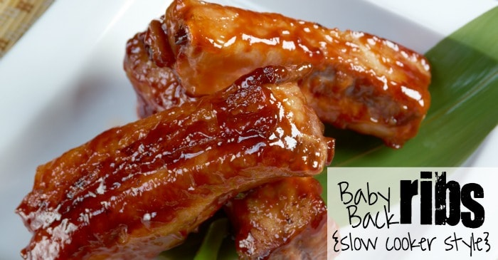 baby back ribs slow cooker baby back ribs cooker style nerdy mamma 30911