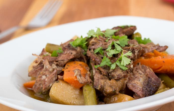 easy roast recipe in the slow cooker feature