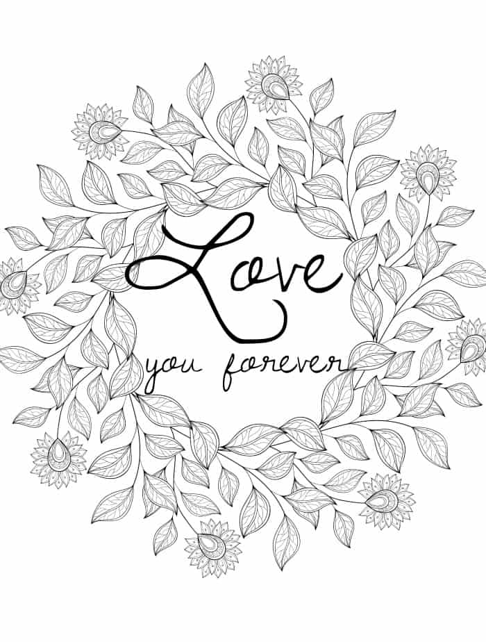 free downloadable coloring pages for adults for valentines