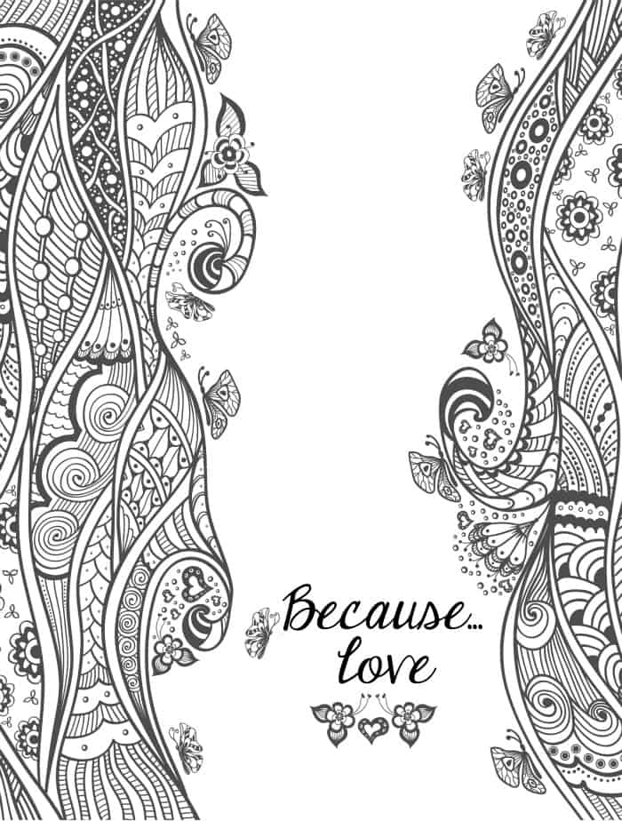 20 free printable valentines adult coloring pages nerdy mamma - Love Coloring Pages
