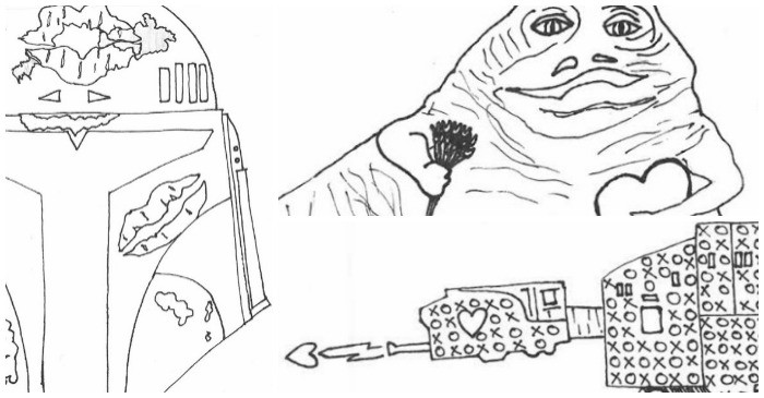3 Free Printable Valentines Adult Coloring Pages Inspired By Star Wars