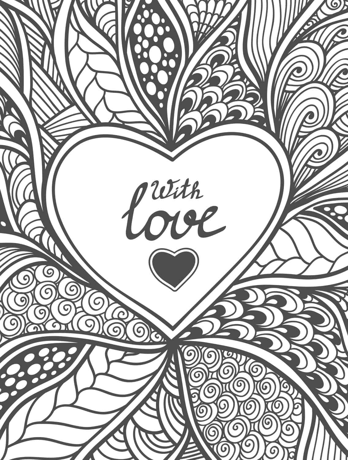 20 Free Printable Valentines Adult Coloring Pages Page 14 of 20