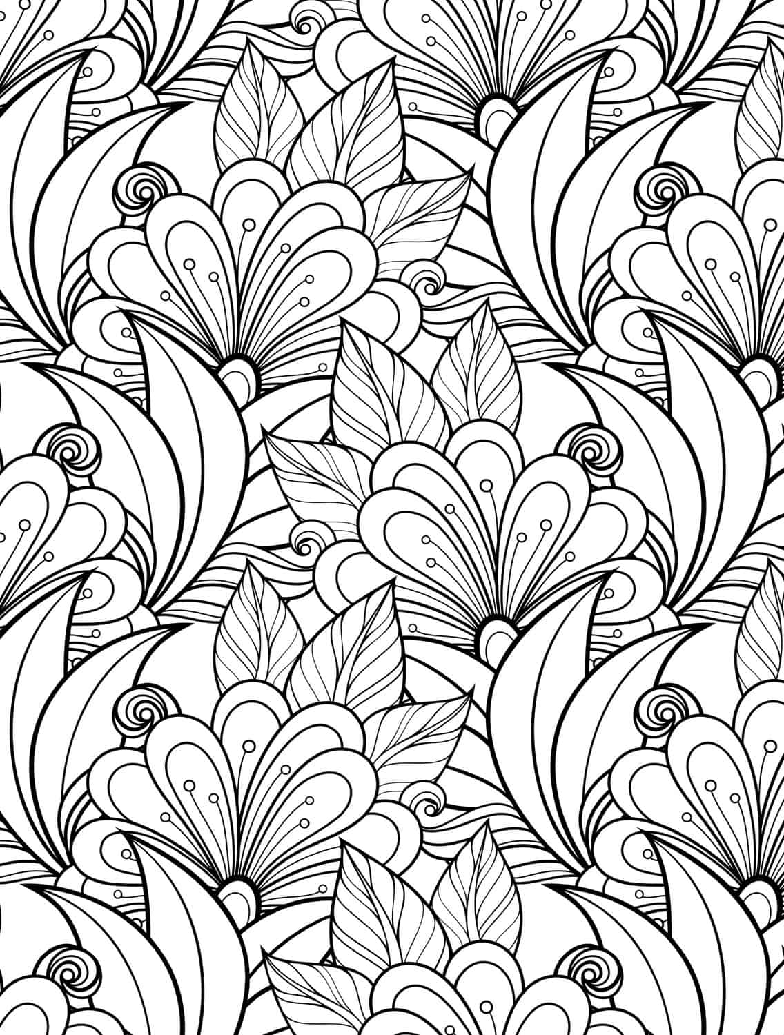 Colouring Pages To Print For Free : More free printable adult coloring pages page of