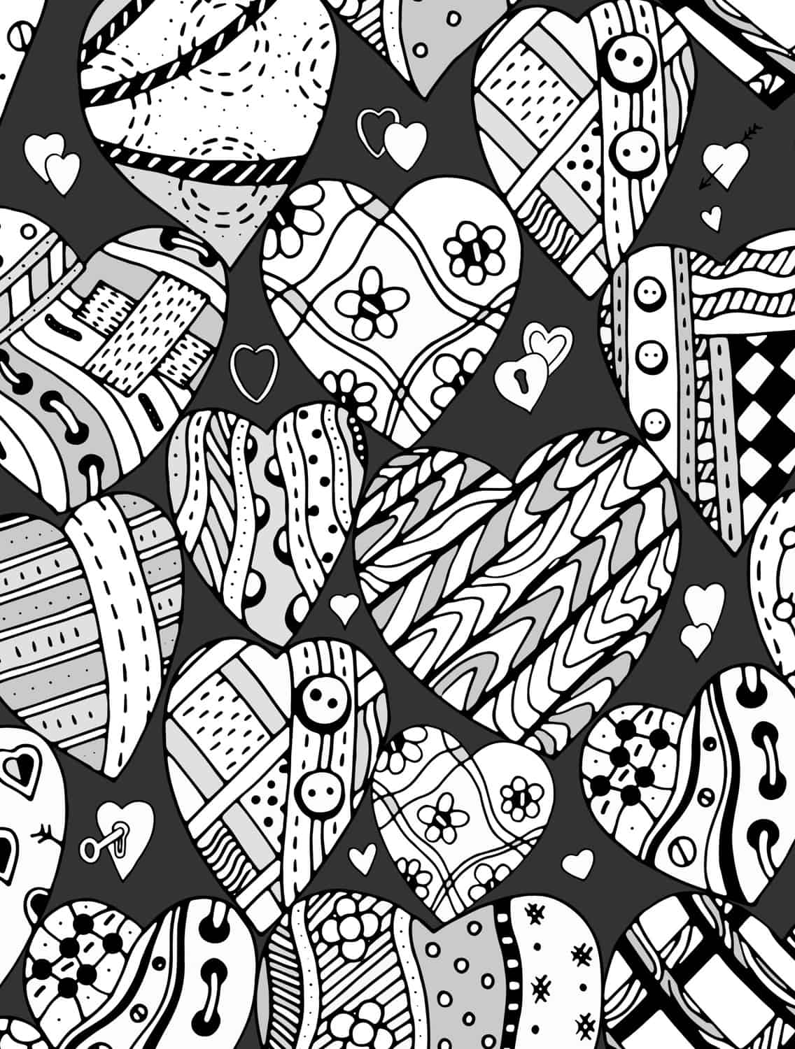 photo regarding Printable Valentine Coloring Page referred to as 20 Free of charge Printable Valentines Grownup Coloring Webpages - Nerdy Mamma