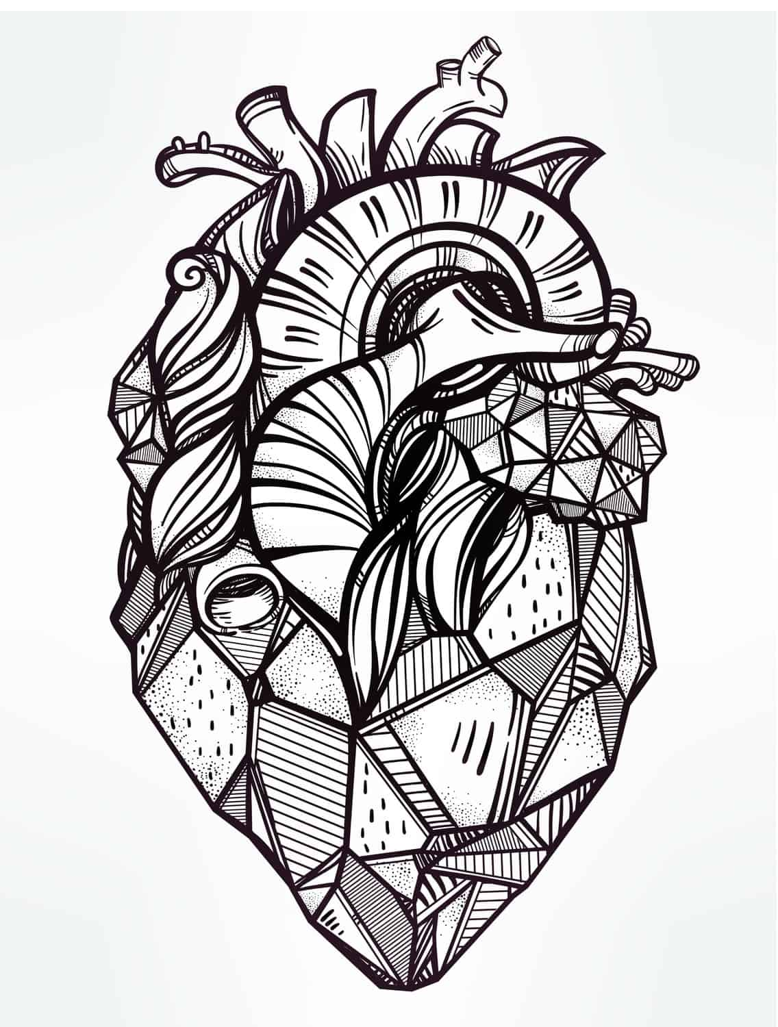 Heart Free Printable Coloring Pages For Adults