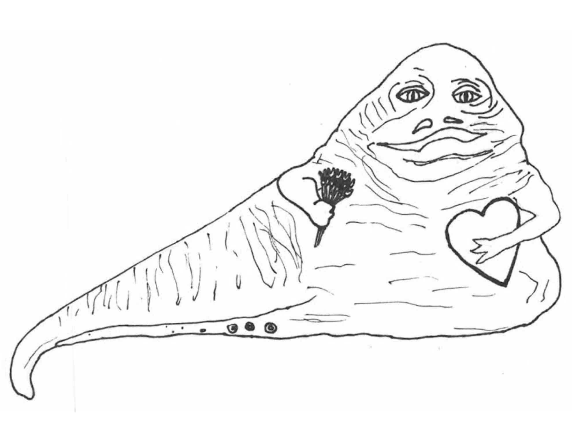 Star Wars Coloring Pages Jabba The Hutt COLORINGPAGES