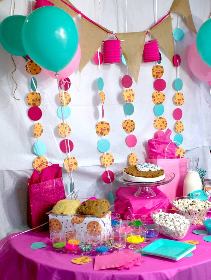 kawaii cookie party decorations