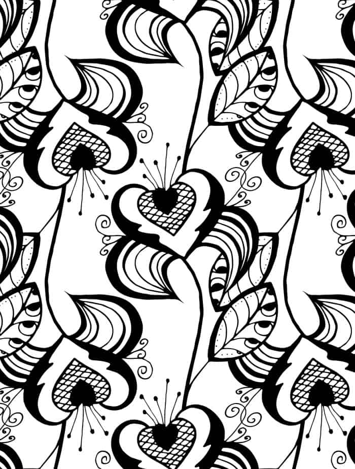 pretty coloring pages for valentines