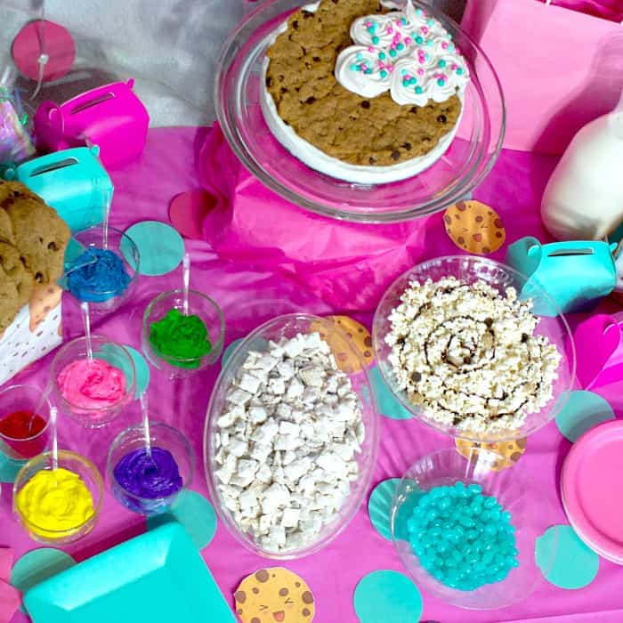 pretty party for little girls with cookies sq