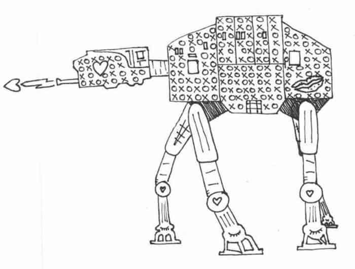 star wars adult coloring page at-at web